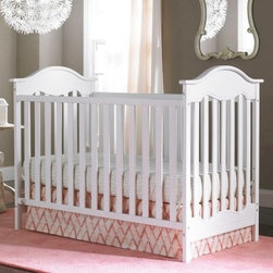 Fisher-Price Charlotte 3-in-1 Convertible Crib Collection - The Fisher-Price Charlotte 3-in-1 Convertible Crib Collection is a sweet addition to any nursery. The gracefully arched end panels and carved inset detail create an adorable vintage look. This crib works well as an island style crib positioned in the middle of the room, as well as against a wall, making it very versatile. The sturdy design easily transitions to a toddler bed and day bed. Optional guardrail available and sold separately. Adorn your crib with our exclusive, personalized name plaque for baby. We will personalize your baby's name up to 12 characters for a cherished keepsake memory. If you would like to order a personalized name plaque to go with this crib, please visit www.bivonaco.com for the order form.About the optional dressers:4 spacious drawers on Euro drawer glidesHandcrafted of New Zealand pine and pine veneerSeveral finish options to coordinate with all nurseriesOptional mount decorative rail includedAnti-tip kit included to safely secure to wallArrives ready to assemble4-drawer dresser: 47.5W x 17.5D x 31.5H in.6- drawer dresser: 54W x 15.5D x 38H in.About the optional dressing table:Choose from a variety of popular finishesMeets all CPSC and ASTM standardsJPMA certified2 shelves provide easy access and ample storageChanging pad and safety strap includedAssembly is requiredMeasures 36L x 20W x 40H in.About Fisher-PriceAs the most trusted name in quality toys, Fisher-Price has been helping to make childhood special for generations of kids. While they're still loved for their classics, their employees' talent, energy and ideas have helped them keep pace with the interests and needs of today's families. Now they add innovative learning toys, toys based on popular preschool characters, award-winning baby gear, and numerous licensed children's products to the list of Fisher-Price favorites.