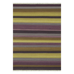 Loloi Rugs - Loloi Rugs Santana Violet Transitional Hand Woven Rug X-670500IV30-ASTNAS - The new Santana Collection takes a modern look at traditional kilims, employing the ancient flat weave construction, but with edgy new patterns for today. Choose from eight all-wool designs that have transitional and modern appeal. Made in India andfinished with fringed ends, Santana's color application recalls today's popular Ikat designs
