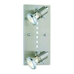 Eglo - Fizz 2 Light Ceiling/Wall Light - Fizz 2 Light Ceiling/Wall Light in Matte Nickel and Chrome Finish.