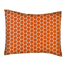 SheetWorld - SheetWorld Crib / Toddler Percale Baby Pillow Case - Burnt Orange Honeycomb - Baby or Toddler pillow case. Made of an all cotton percale/woven fabric. Opening is in the back center and is envelope style for a secure closure. Features a burnt orange honeycomb print.