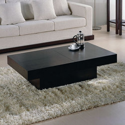 Beverly Hills Furniture Inc. - Nile Rectangular Storage Coffee Table in Wenge - Constructed from wood veneer on medium density fiberboard, Nile Rectangular Storage Coffee Table in Wenge - Beverly Hills Furniture Inc. represents the convergence of style, quality and functionality! It features smooth ball-bearing release mechanism for easy one-handed operation. The interior storage space is fully veneered, allowing for years of regular use.