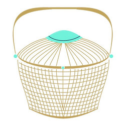 Jane CoCo Cowles - Mod Nantucket Basket - Digital illustration on ultrafoam board