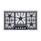 "Thermador Masterpiece 36"" Gas Cooktop, Stainless Steel 