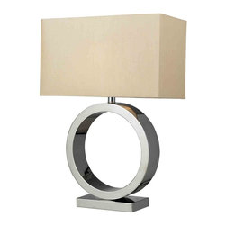 Dimond Lighting - Dimond Lighting D2201 Aurora Chrome Table Lamp - Dimond Lighting D2201 Aurora Chrome Table Lamp