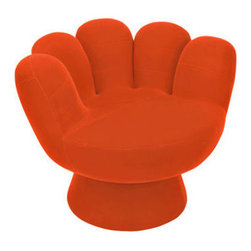 "LumiSource - Mitt Kid's Novelty Chair - The Mitt Chairs are fabulously fun chairs ideal for kids, teens, and anyone looking to add color and funk to their decor. Sturdy as they are comfortable, you can collect these occasional pieces in a multitude of colors and sizes to enhance any cozy space! Features: -Easy-to-clean, plush fabric.-Sturdy, wooden frame.-Product Type: Novelty Chair.-Collection: Mitt.-Distressed: No.-Powder Coated Finish: No.-Gloss Finish: No.-Frame Material: Wood.-Solid Wood Construction: No.-Number of Items Included: 1.-Non-Toxic: Yes.-UV Resistant: No.-Scratch Resistant: No.-Stain Resistant: No.-Rust Resistant: No.-Mildew Resistant: No.-Rot Resistant: No.-Insect Resistant: No.-Arms Included: No.-Upholstered Seat: Yes -Seat Upholstery Material: Plush polyester fabric.-Removable Seat Cushions: No.-Seat Cushion Fill Material: Foam padding.-Removable Seat Cushion Cover: No.-Tufted Seat Upholstery: No.-Welt on Seat Cushions: No..-Upholstered Back: Yes -Back Upholstery Material: Plush polyester fabric.-Removable Back Cushions: No.-Back Cushion Fill Material: Foam padding.-Removable Back Cushion Cover: No.-Tufted Back Upholstery: No.-Welt on Back Cushions: No..-Nailhead Trim: No.-Rocker: No.-Swivel: No.-Glider: No.-Reclining: No.-Footrest Included: No.-Stackable: No.-Foldable: No.-Inflatable: No.-Legs Included: No.-Casters: No.-Cupholder: No.-Skirted: No.-Ottoman Included: No.-Adjustable Height: No.-Ergonomic Design: No.-Age Recommendation (Size: Mini): 2 to 6 years old.-Age Recommendation (Size: Regular): Tween & up.-Outdoor Use: No.-Seating Capacity: 1.-Weight Capacity (Size: Mini): 100 lbs.-Weight Capacity (Size: Regular): 250 lbs.-Swatch Available: Yes.-Commercial Use: No.-Recycled Content: No.-Product Care: Spot clean only.-Convertible: No.Specifications: -FSC Certified: No.-CPSIA or CPSC Compliant: Yes.-CARB Compliant: Yes.-Green Guard Certified: No.Dimensions: -Overall Height - Top to Bottom (Size: Mini): 21"".-Overall Height - Top to Bottom (Size: Regular): 27.5"".-Overall Width - Side to Side (Size: Mini): 17"".-Overall Width - Side to Side (Size: Regular): 32"".-Overall Depth - Front to Back (Size: Mini): 17"".-Overall Depth - Front to Back (Size: Regular): 32"".-Seat Height (Size: Mini): 11"".-Seat Height (Size: Regular): 17"".-Overall Product Weight (Size: Mini): 21 lbs.-Overall Product Weight (Size: Regular): 41 lbs.Assembly: -Assembly Required: Yes.-Additional Parts Required: No.Warranty: -Product Warranty: 90 day limited warranty."