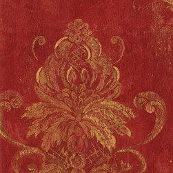 Damask in Red and Gold - CS27328 - Collection:Classic Silks