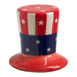 "Nora Fleming - Nora Fleming Uncle Sam Hat Mini - True to the ""One gift, every occasion"" idea, the Nora Fleming pieces are simple, functional, and creative. In just three short steps, change the platter for every holiday, event, and celebration!"