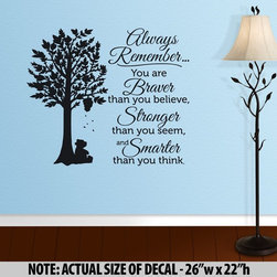 ColorfulHall Co., LTD - Tree Wall Decal You Are Braver Than You Believe - Tree Wall Decal You Are Braver Than You Believe
