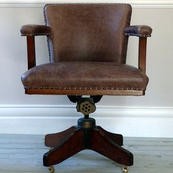 Craftori Living - Hands & Co, Antique Leather Office / Desk Chair