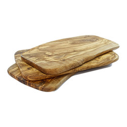 Carre - Carre Handmade Olive Wood Cutting Board 18 x 9 x 0.75 - One of the most eye-catching cutting boards in our collection, this piece is carved from a single piece of natural olive wood.