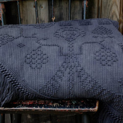 Hand Dyed Vintage Chenille Bedspread, Midnight Blue by Enhabiten - This beautiful hand-dyed bedspread is by the lovely Liane of Enhabiten. Handmade items are a luxury, and this is an affordable one.
