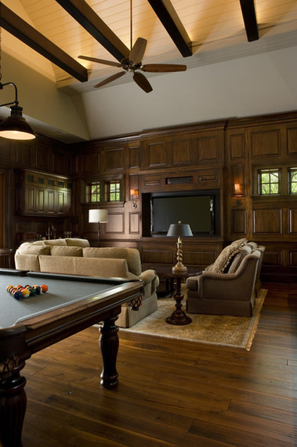 Traditional Home Theater by Buffington Homes South Carolina