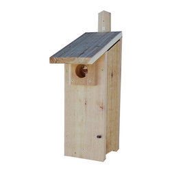 Stoval - Stovall Wood Woodpecker House Multicolor - SP4H - Shop for Houses from Hayneedle.com! About StovallBased in Michigan Stovall Products has been manufacturing a full line of cedar bird feeders birdhouses and bat houses for over 20 years. Each hand-crafted item is made of Western red cedar and is assembled with screws and stainless hardware. Much of the hardware is finished with a wood protector to accent the natural warmth of the wood grain while some products are rough sawn to blend naturally into their surroundings. Stovall builds houses for wrens bluebirds hawks owls ducks and more and offers three sizes of bat houses.
