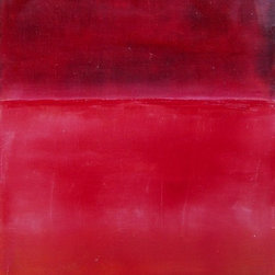 """""""Pink, Painting"""" - Minimalist abstraction in pink and raspberry tones"""
