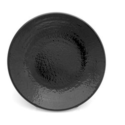 Elite Global Solutions - Black Pebble Creek 6 3/8 Dia x 3/4 H Round Pebble Plate - Case of 6 - There is something magic about the way pebbles glisten in a creek bed under the warmth of sunlight. The colors, textures, and shapes of the Pebble Creek collection will add a similar allure to your most enchanting entrees