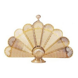UniFlame - Polished Brass Shell Fan Screen Medium - Series:  Specialty Line