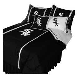 Store51 LLC - MLB Chicago White Sox Bedding Set Baseball Bed, Twin - Features: