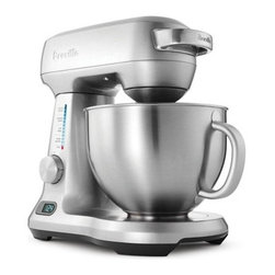 Breville - Breville 5-qt. Die-Cast 12-Speed Stand Mixer - The baking enthusiast will love this professional grade 5-quart mixer. Ingredients are combined thoroughly and evenly with a high tech design. Whether you're beating egg whites or mixing cupcake batter, the 12-speed mixer will have you covered in style.