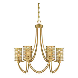 Savoy House - Savoy House 1-1280-6-325 Fairview 6 Light Chandelier - Fairview strikes the perfect balance with gleaning pierced metal and rich Rubbed Brass finish. This Raymond Waites Design has timeless elegance blended with a clean, modern vibe. The collection includes a pendant, chandelier, entry and two sconces.