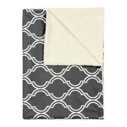 LaCozi - Contemporary Gray & White Baby Blanket - They're just getting warmed up. Your babies are ready to go just about anywhere, because they're wrapped up in the coziest of blankets, that can travel from the car to the playroom to the stroller with style.