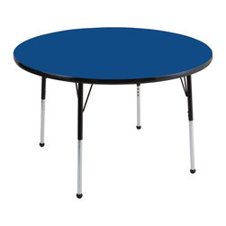 ECR4KIDS - ECR4KIDS 48 in. Black Band Round Adjustable Activity Table - ELR-14115-BLBK-SB - Shop for Childrens Tables from Hayneedle.com! About Early Childhood ResourcesEarly Childhood Resources is a wholesale manufacturer of early childhood and educational products. It is committed to developing and distributing only the highest-quality products ensuring that these products represent the maximum value in the marketplace. Combining its responsibility to the community and its desire to be environmentally conscious Early Childhood Resources has eliminated almost all of its cardboard waste by implementing commercial Cardboard Shredding equipment in its facilities. You can be assured of maximum value with Early Childhood Resources.