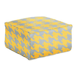 Surya - Surya 24 in. Houndstooth Square Wool Pouf - POUF172-242413 - Shop for Ottoman & Footstools from Hayneedle.com! Large enough for any lounger and stylish enough for any tastes the Surya 24 in. Houndstooth Square Wool Pouf will enrich your seating ensemble with a contemporary houndstooth pattern in your choice of earthy colors. Texture and comfort are this foot ottoman's specialties thanks to its 100% wool construction by skilled Indian artisans.About SuryaSince 1976 Surya has established itself as one of India's leading producers of fine rugs and home goods. Their products are sold in the U.S.A. at respected department and specialty stores. The company is known for its quality value dedication and innovation. This includes responsibility for the entire process of creating home decor - spinning dyeing weaving and finishing. Surya prides itself on using the best raw material available for the production of their rugs throws and decor items. They are proud members of Wools of New Zealand. From design concept through production a Surya family member is involved making sure that the highest standards are being met at each level. Surya works with top designers and constantly updates their designs and color palettes to match and set the trends in design and fashion for the home. Surya always means a fine choice.