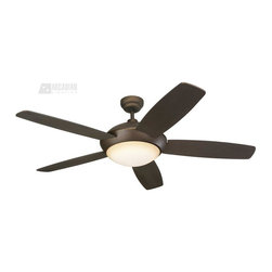 "Monte Carlo Fan - Monte Carlo Fan 52"" Sleek Transitional Ceiling Fan X-B-DBR25RLS5 - Monte Carlo Fan 52"" Sleek Transitional Ceiling Fan X-B-DBR25RLS5"