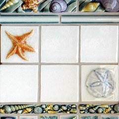 tropical bathroom tile by Pratt and Larson Ceramics