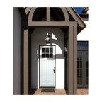 Smooth Skin Fiberglass Door Series - 3/0 x 8/0 Smooth Skin Series: Direct Glazed Craftsman w/ 6 Lite SDL bars ---
