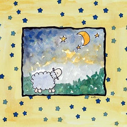 Oh How Cute Kids by Serena Bowman - I Wish Tonight-Sheep, Ready To Hang Canvas Kid's Wall Decor, 8 X 10 - Each kid is unique in his/her own way, so why shouldn't their wall decor be as well! With our extensive selection of canvas wall art for kids, from princesses to spaceships, from cowboys to traveling girls, we'll help you find that perfect piece for your special one.  Or you can fill the entire room with our imaginative art; every canvas is part of a coordinated series, an easy way to provide a complete and unified look for any room.
