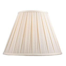 "Dolan Designs - Full Size Off White Linen Box Pleat Shade 8"" - Elegant and Contemporary with box pleat in a Off White linen shade."