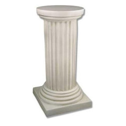 Milano Column - Featuring a highly detailed fluted construction, the Milano Column has a classic and beautiful design. Cast from fiberglass resin, this column is lightweight and easy to move, yet durable enough to withstand the outdoor elements. With its traditional elements, it has an uncomplicated elegance that will complement your garden's natural beauty. Ideal for a rose garden or rock garden, it will fit easily into any corner of your garden, or take center stage.About Orlandi StatuaryBorn in 1911 when Egisto Orlandi traveled from Lucca, Italy to Chicago, Illinois, Orlandi Statuary quickly set the standard for excellence in their industry. Egisto took great pride in his craft and reputation and which is why artists, interior designers, and museums relied upon the careful details and impeccable quality he demanded. Over the years, they've evolved into a company supplying more than statuary. Orlandi's many collections today include fiber stone for the garden, religious statuary, fountains, columns, and pedestals. Their factory and showroom are still proudly located in Chicago where, after 100 years, they remain an industry icon.