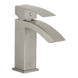 VIGO Industries - VIGO Satro Single Lever Brushed Nickel Finish Faucet - The VIGO Satro Single Lever faucet in Brushed Nickel finish brings an angular, modern, and bold look to your bathroom.