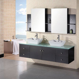 "Design Elements LLC - Bathroom Sink Vanity, 48"" Single Vessel Sink, Stanton - Faucets not included"