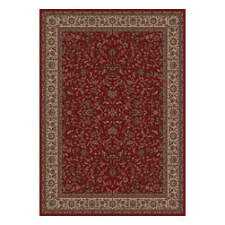 "Concord Global - Persian Classics 2020-Red Kashan 2.7"" x 9""  - Premium Single Stair Treads - Persian Classics 2020-Red Kashan 2.7"" x 9"""
