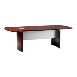 Mayline - Mayline Napoli Curved End Conference Table in Sierra Cherry Finish - Mayline - Conference Tables - NCXXCRY - Up the ante in your boardroom with this executive curved end conference table with curved base. The Napoli conference table springs from an Italian-influenced, modern and sophisticated style that will be sure to impress. Featuring high quality veneers in three rich finishes, the Napoli is sure to impress by combining elegant lines with excellent durability.