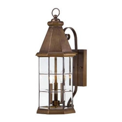 Savoy House - Savoy House 5-5951-290 Regent 3 Light Wall Lantern in Burnished Sienna 5-5951-29 - Regent has distinctive lines and timeless charm that add visual appeal to your outdoor spaces. These lanterns have faceted beveled glass panels and a Burnished Sienna finish that is warm and appealing.Backplate Height: 8-1 4 Backplate Width: 4-1 2 Bulb Incuded: No Bulb Type: Incandescent Candle Cover Type: Burnished Sienna Metal Collection: Regent Dark Sky: No Extends: 12-1 2 Finish: Burnished Sienna Glass: Clear Bevel Height: 22-1 2 Number of Lights: 4 Photocell: No Safety Rating: UL, CUL Shade Shape: Cylinder Socket 1 Base: Candelabra Socket 1 Max Wattage: 60 Solar: No Style: Traditional Suggested Room Fit: Outdoor UL Wet Location: Yes Voltage: 120 Wattage: 60 Weight: 11 Width: 9