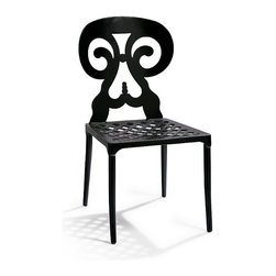 Frontgate - Set of Two Pisa Aluminum Outdoor Dining Chairs, Patio Furniture - Multi-step powdercoating process adds lasting beauty and protection. Coordinates with our Handpainted Dining Tables. Durable for outdoor use. The sturdy Pisa Aluminum Dining Chairs are deftly cast for years of enjoyment. . . .
