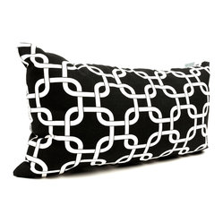 Outdoor Black Links Small Pillow