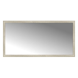 "Posters 2 Prints, LLC - 72"" x 36"" Libretto Antique Silver Custom Framed Mirror - 72"" x 36"" Custom Framed Mirror made by Posters 2 Prints. Standard glass with unrivaled selection of crafted mirror frames.  Protected with category II safety backing to keep glass fragments together should the mirror be accidentally broken.  Safe arrival guaranteed.  Made in the United States of America"