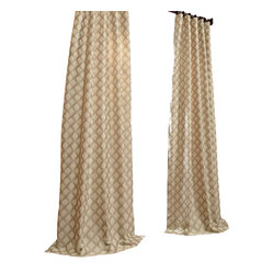 Davin Neutral Jacquard Curtain