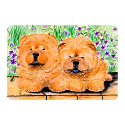 Caroline's Treasures - Chow Chow Kitchen or Bath Mat 24 x 36 - Kitchen or Bath Comfort Floor Mat This mat is 24 inch by 36 inch. Comfort Mat / Carpet / Rug that is Made and Printed in the USA. A foam cushion is attached to the bottom of the mat for comfort when standing. The mat has been permanently dyed for moderate traffic. Durable and fade resistant. The back of the mat is rubber backed to keep the mat from slipping on a smooth floor. Use pressure and water from garden hose or power washer to clean the mat. Vacuuming only with the hard wood floor setting, as to not pull up the knap of the felt. Avoid soap or cleaner that produces suds when cleaning. It will be difficult to get the suds out of the mat.