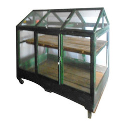 SOLD OUT! Vintage Handcrafted Greenhouse on Wheels - $1,580 Est. Retail - $790 o -