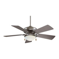 "Minka Aire Fans - Supra 44 Ceiling Fan with Light by Minka Aire Fans - Superior performance for the mid-sized room. With a blade span of 44"", the Minka Aire Supra 44 Ceiling Fan is perfect for cooling the medium-sized bedroom, kitchen or entry. Features 6-ply warp resistant fan blades and a 3-speed pull chain. Compatible with a number of remotes.The Minka Group, located in Corona, CA, offers a variety of products, including Minka Aire fans, Minka Lavery lighting, and George Kovacs fans and lighting. The Minka Aire Supra 44 Ceiling Fan is available with the following:Details:Opal frosted glass shade5, 6-ply warp resistant fan bladesPull chain3 forward/reverse fan speeds (reversed at motor)Compatible with a number of remote controls (see Related Products)One 3.5"" and one 6"" downrod (other lengths available; see Related Products)44"" blade diameter"