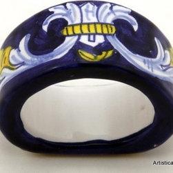Artistica - Hand Made in Italy - Deruta: Napkin Ring 'Principato' - Deruta Classic: