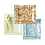 Zhush - Zebra Trays, Green/Lavender - A chic catchall for jewelry, keys, stamps, spare change, you name it! These trays look fabulous on a dresser, night stand or even on top of a stack of pretty books.