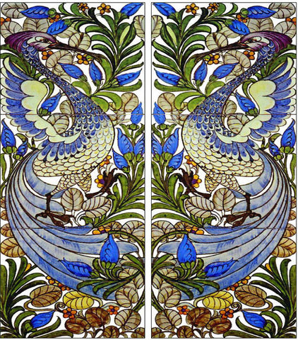 Fireplaces Fantastic Bird Tile Panels, William Morris Tile