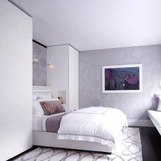 Modern Bedroom by Roughan Interior Design