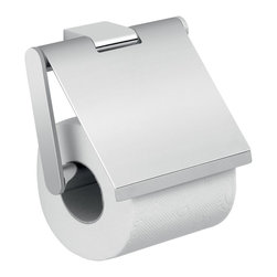 "Gedy - Square Wall Mounted Chrome Toilet Paper Holder with Cover - Luxury wall mounted toilet paper roll holder with cover. Curved square toilet paper holder with cover made out of high quality brass. Finished in polished chrome, this roll holder is designed and manufactured in Italy. Part of the Gedy Canarie Collection. Square toilet roll holder with cover. Wall mounted toilet paper holder. Made of high quality brass. Has polished chrome finish. Toilet Paper Holder: Width: 5.2"" height: 4.7"" depth: 1.4""."