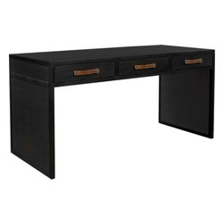 5393-10-Harrison Three-Drawer Writing Table -